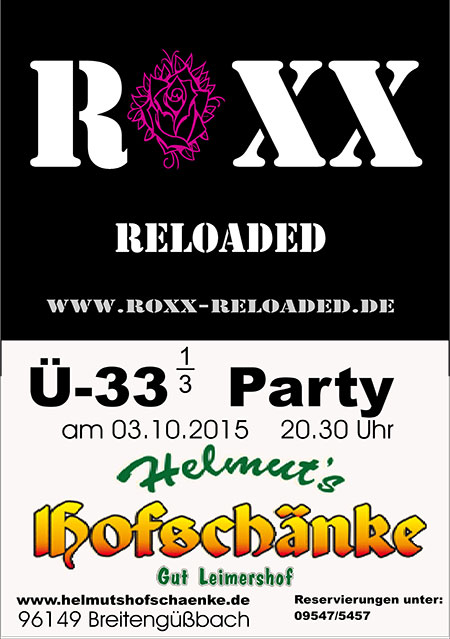 Roxx Ü30-Party Hofschänke